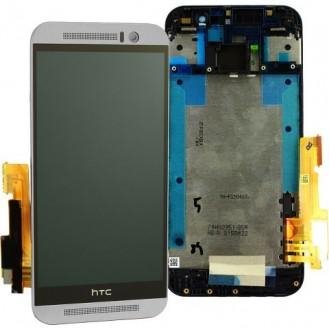 HTC One M9 LCD Komplett Einheit, inkl Displayrahmen Grau