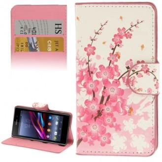 Sony Xperia Z1 Compact Leder Kreditkarte Etui Frühling