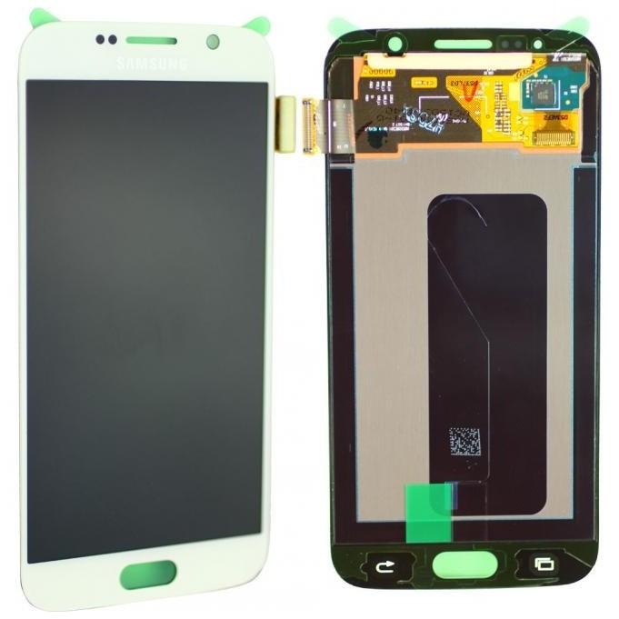 Samsung Galaxy S6 Komplett LCD Frontcover, Weiss