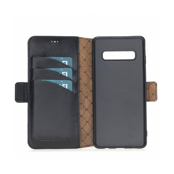 Bouletta Geldbörse Lederhülle mit Steckplatz für Samsung S10