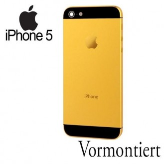 iPhone 5 Alu Backcover Rückseite Gold