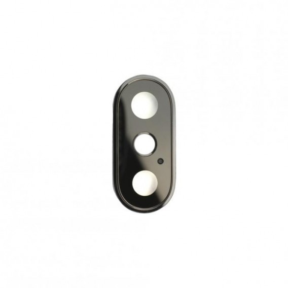 Kamera Linse mit Rahmen Kompatibel mit iPhone XS Schwarz