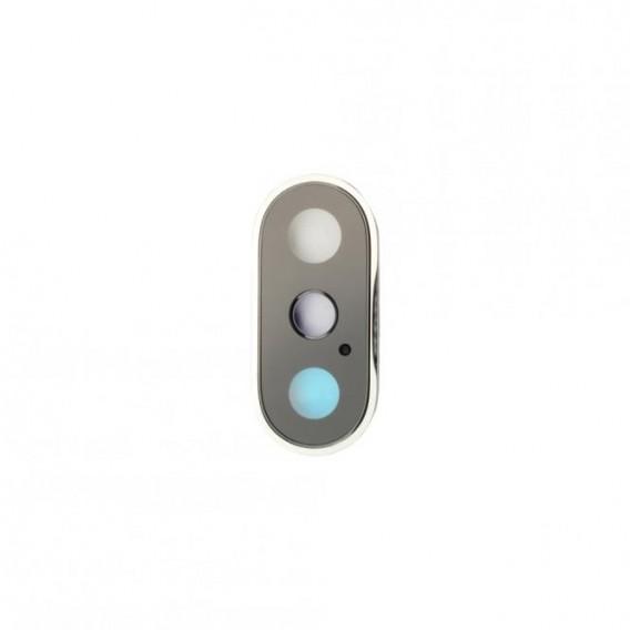 Kamera Linse mit Rahmen Kompatibel mit iPhone XS Weiss