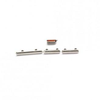 Seitentasten Set kompatibel mit iPhone XS, Silber