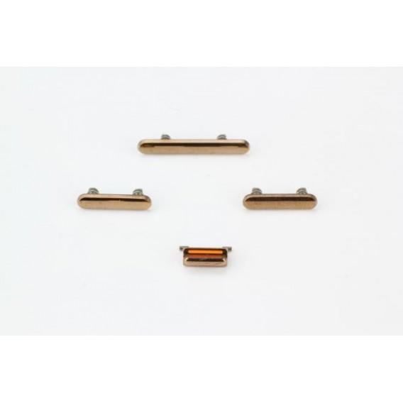 Seitentasten Set kompatibel mit iPhone XS, Gold