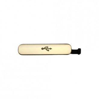 Samsung Galaxy S5 USB-/Dockanschluss-Abdeckung, Gold