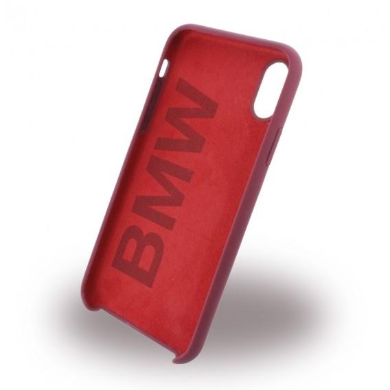 BMW - Signature - Apple iPhone X Burgundy Silikon Cover Case