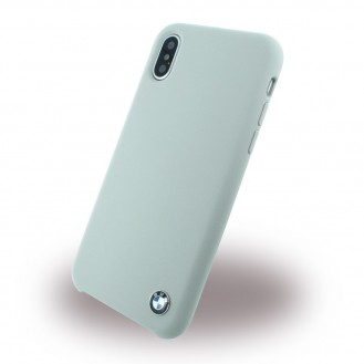 BMW - Signature - Apple iPhone X Taupe Silikon Cover Case Handyhülle Schutzhülle