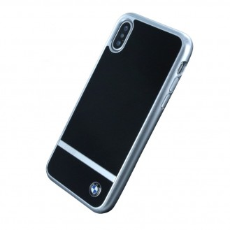 BMW - Aluminium Stripe HC - Apple iPhone X Hard Cover Case Handyhülle Schutzhülle