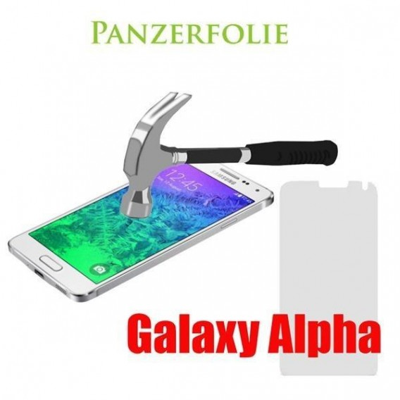 9H Panzerglas Tempered Folie Samsung Galaxy Alpha SM-G850F