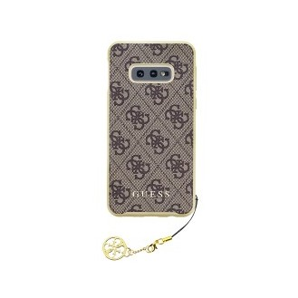 Guess Charms Hard Case 4G für Samsung G970F Galaxy S10e Braun