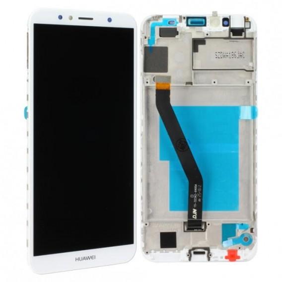 Huawei Y6 2018 LCD Einheit mit Displayrahmen, Weiss