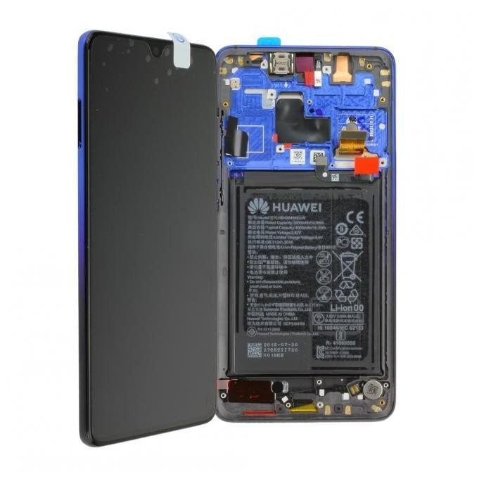 Huawei Mate 20 LCD Einheit mit Displayrahmen inkl. Akku, Twilight