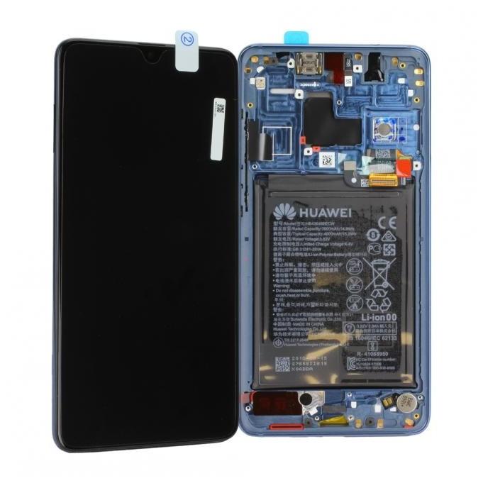 Huawei Mate 20 Einheit mit Displayrahmen inkl. Akku, Blau