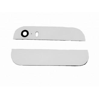 Kamera Back Rück Glas Oben Unten Abdeckung Weiss iPhone 5S SE