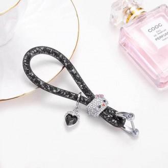 Lady Schlüsselanhänger mit speziellem Design Schwarz