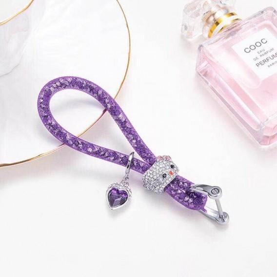 Lady Schlüsselanhänger mit speziellem Design Lila