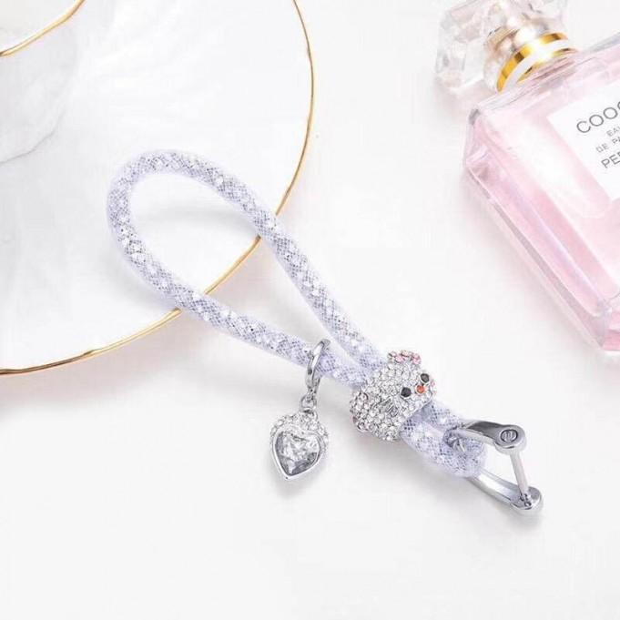 Lady Schlüsselanhänger mit speziellem Design Silber