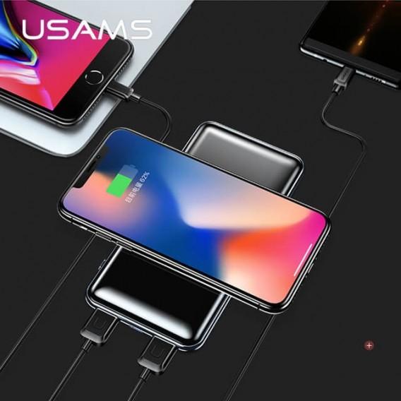 USAMS Qi Wireless-Ladegerät 10000mAh Dual-USB-Power-Bank
