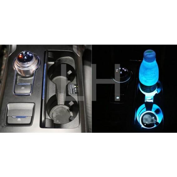 2 LED Cup Holder Halter Matte Pad Auto Flasche BMW
