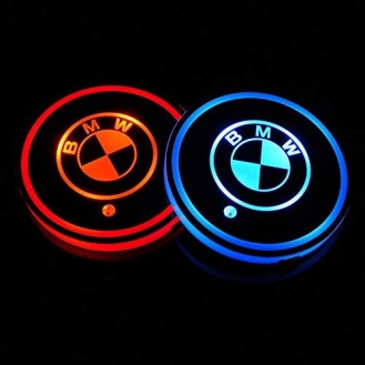 2 LED Cup Holder Halter Matte Pad Auto Flasche Audi