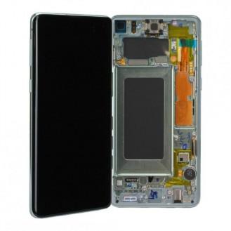 Samsung Galaxy S10 G973F LCD + Touch einheit, Prism White