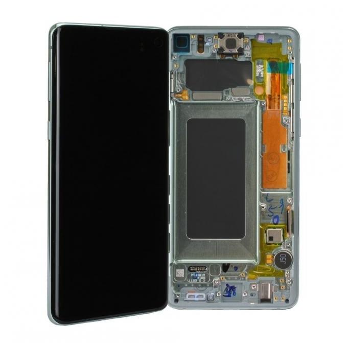 Samsung Galaxy S10 G973F LCD + Touch einheit, Prism Green