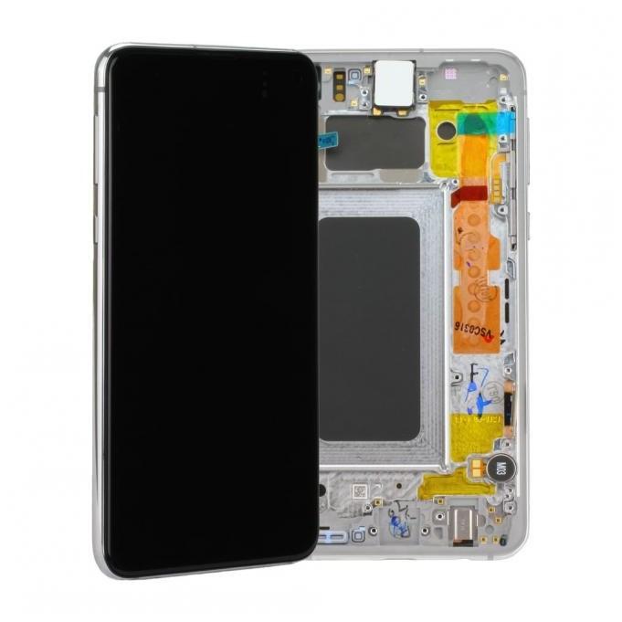 Samsung Galaxy S10e G970F LCD + Touch Einheit, Prism White