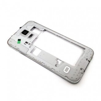 Samsung Galaxy S5 Mittel Rahmen Silber
