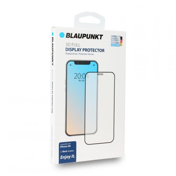 Blaupunkt 3D Full Tempered Displayschutzglas (Panzerglas) für Apple iPhone XR, Schwarz