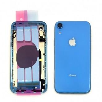 iPhone XR Backcover Gehäuse Rahmen mit Tasten Vormontiert Blau