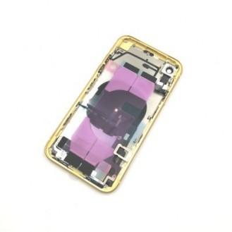 iPhone XR Backcover Gehäuse Rahmen mit Tasten Vormontiert Gelb A1984, A2105, A2106, A2107