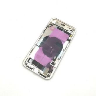 iPhone XR Backcover Gehäuse Rahmen mit Tasten Vormontiert Weiss A1984, A2105, A2106, A2107