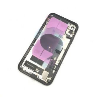 iPhone XR Backcover Gehäuse Rahmen mit Tasten Vormontiert Schwarz