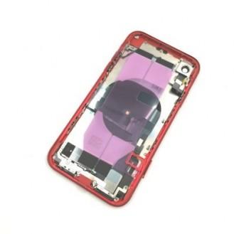 iPhone XR Backcover Gehäuse Rahmen mit Tasten Vormontiert Rot A1984, A2105, A2106, A2107