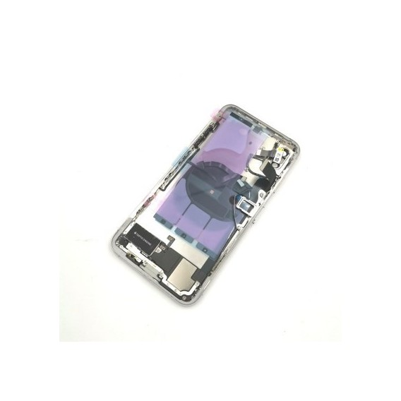 iPhone XS Backcover Gehäuse Rahmen mit Tasten Vormontiert Weiss