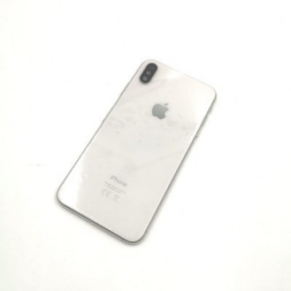iPhone X Backcover Gehäuse Rahmen mit Tasten Vormontiert Weiss