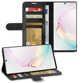 Schutzhülle Samsung Galaxy Note 10 Tasche Flip Book Case Schwarz