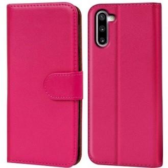 Schutzhülle Samsung Galaxy Note 10 Tasche Flip Book Case Pink