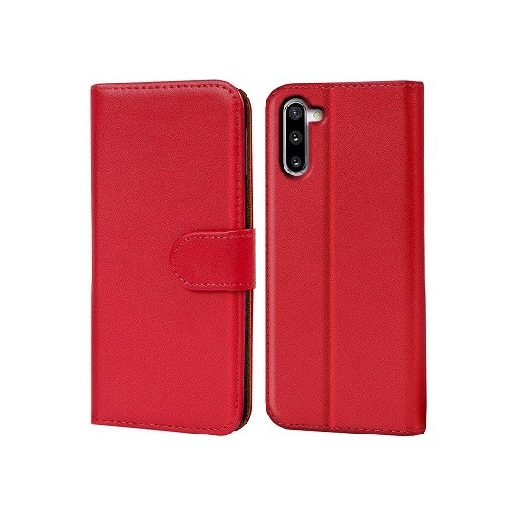 Schutzhülle Samsung Galaxy Note 10 Tasche Flip Book Case Rot