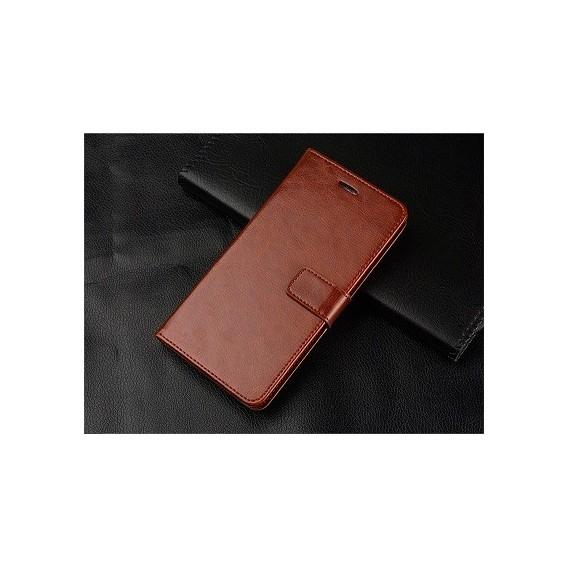 Schutzhülle Samsung Galaxy Note 10 Tasche Flip Book Case Braun