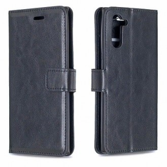 Schutzhülle Samsung Galaxy Note 10 Plus Tasche Flip Book Case Schwarz