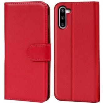 Schutzhülle Samsung Galaxy Note 10 Plus Tasche Flip Book Case Rot