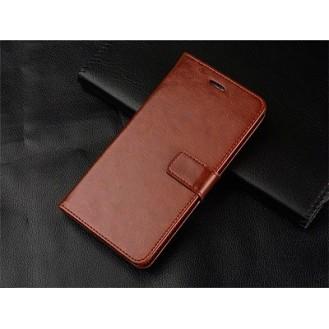 Schutzhülle Samsung Galaxy Note 10 Plus Tasche Flip Book Case Braun