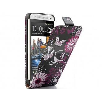 Butterfly Schmetterling Flip Leder Etui HTC One M4 (M7 mini)