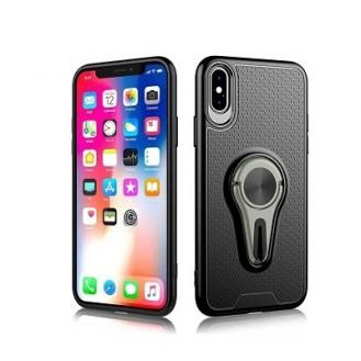 iPhone Xr - 360 PKW KFZ Auto LKW Lüftungsgitter mit Magnet Halterung - Grau Hülle Cover