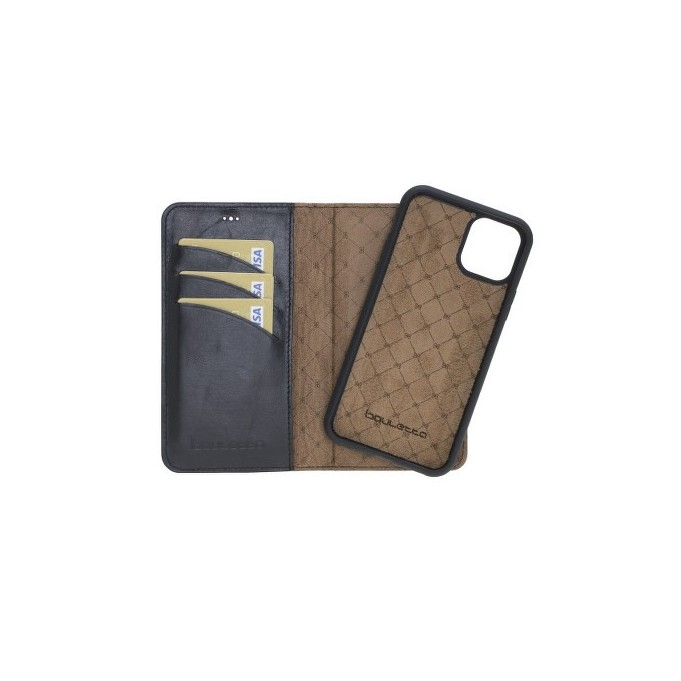Bouletta Echt Leder Magic Wallet iPhone 11 Schwarz