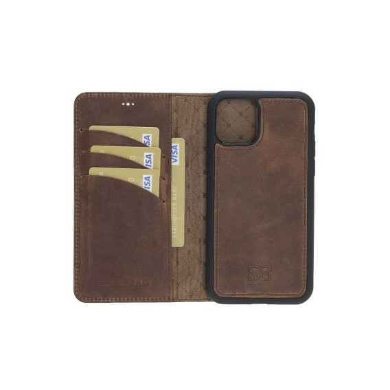 Bouletta Echt Leder Magic Wallet iPhone 11 Antik Braun