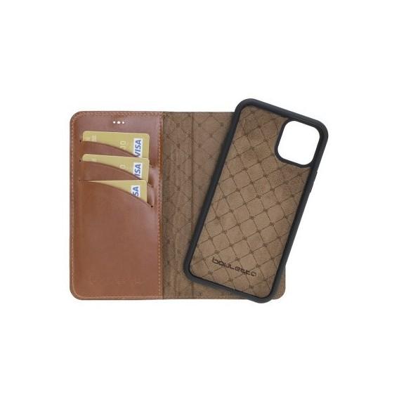 Bouletta Echt Leder Magic Wallet iPhone 11 Braun