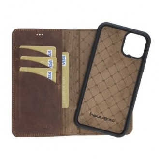 Bouletta Echt Leder Magic Wallet iPhone 11 Pro Antik Braun